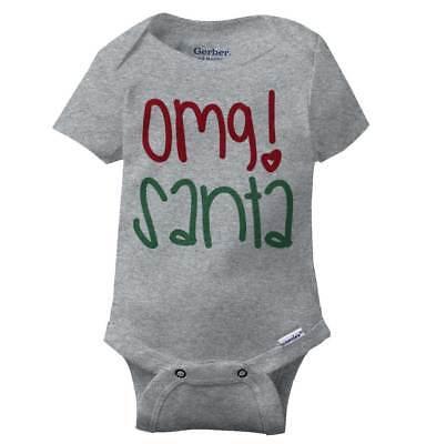 Santa Claus Onesie (OMG Santa Claus Holiday Gerber Onesie   Christmas Xmas Cheer Joy Baby)
