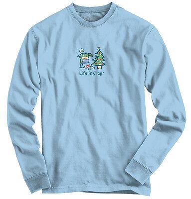 Life is Crap Ugly Christmas Sweater Funny Shirt | Gift Idea Long Sleeve Tee](Ugly Christmas Shirt Ideas)