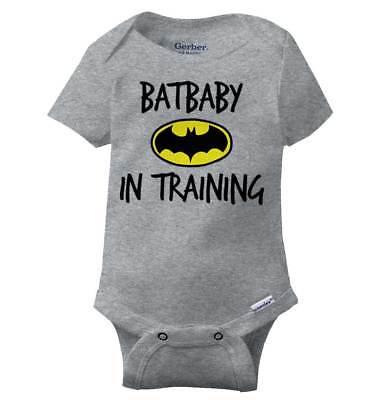 Batbaby Training Comic Book Gerber Onesie | Superhero Symbol Nerdy Baby - Onesie Superhero