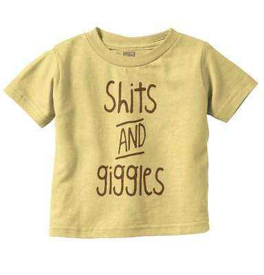 Sh*ts Giggles Funny Baby Toddler Shirts | Cute Child Laugh T Infant Tee - Baby Sh