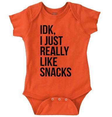 Baby Shower Snack Ideas (Idk I Just Like Snacks Funny Shower Gift Idea Newborn Romper Bodysuit For)