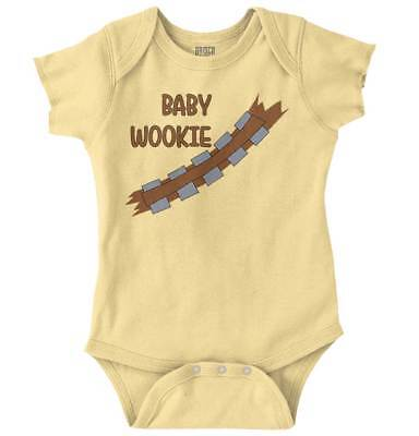 Baby Wookie Cool Gift Star Wars Darth Vader Han Solo Cute Gym Romper Bodysuit