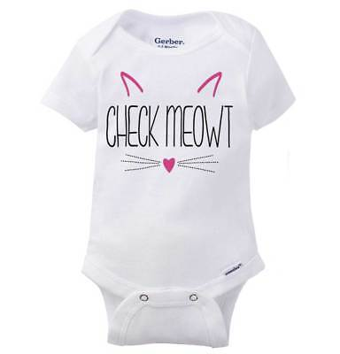 Check Me Out Cute Cat Lady Pet Parent Kitten Lover Gift Baby Gerber Onesie