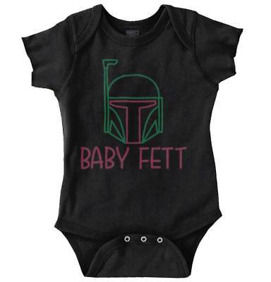 Baby Fett Cool Gift Cute Edgy Sarcastic Star Wars Hunter Gym Romper - Star Wars Baby Gifts
