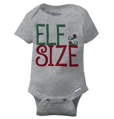 Santa Claus Onesie (Elf Size Holiday Xmas Gerber Onesie   Christmas Santa Claus Elves Baby)