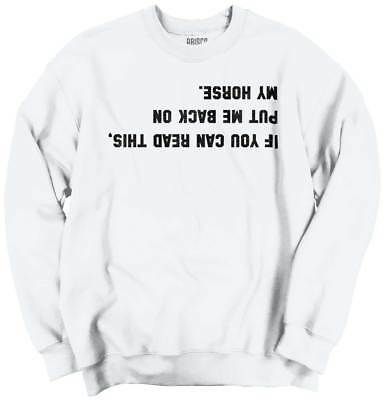 Horses Youth Sweatshirt - If Can Read Back On My Horse Funny Shirt Cool Country Rider Youth Sweatshirt