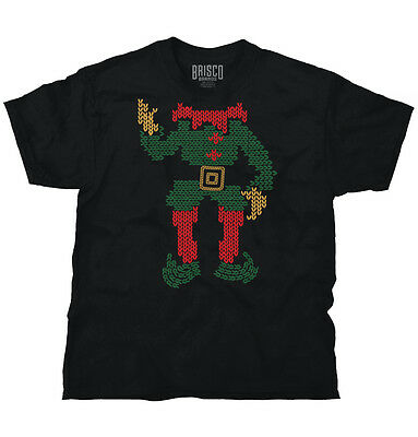 Elf Santa Ugly Christmas Sweater Funny Shirts Gift Ideas Cool T Shirt Tee ()