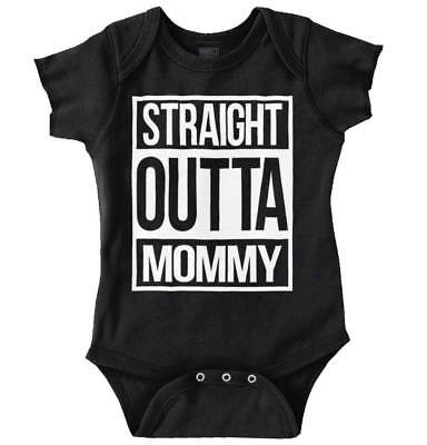 Straight Outta Mommy Funny Shower Gift Idea Newborn Romper Bodysuit For Babies - Ideas For Baby Showers