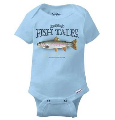 Rainbow Trout Fish Gift Gerber Onesie   Unique Vintage Retro Idea Baby - Retro Baby Onesies