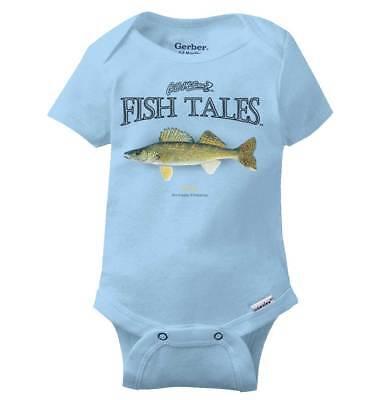 Sport Baby Onesie - Walleye Fish Funny Fishing Outdoor Fisherman Sport Gift Baby Gerber Onesie