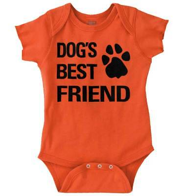 Dog Best Friend Funny Shirt Cool Puppy Cute Gift Baby Clothes Romper (Best Cooling Dogs)