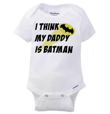 Daddy Is A Superhero Comic Book Nerd Geek Infant Gerber Onesie Baby - Onesie Superhero