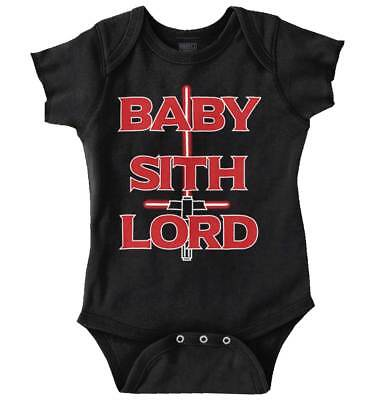 Baby Sith Lord Cool Gift Cute Edgy Sarcastic Star Wars Funny Romper - Star Wars Baby Gifts