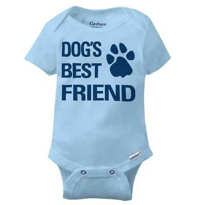 Dog Best Friend Funny Shirt Cool Puppy Cute Gift Baby Clothes Gerber