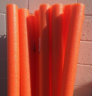 Lot 8x Orange Noodles Swimming Pool Noodle therapy water floating foam craft](Pool Noodle Crafts)