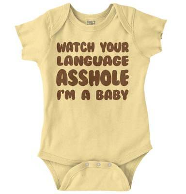 Watch Your Language Funny Shower Gift Idea Newborn Romper Bodysuit For Babies - Ideas For Baby Showers