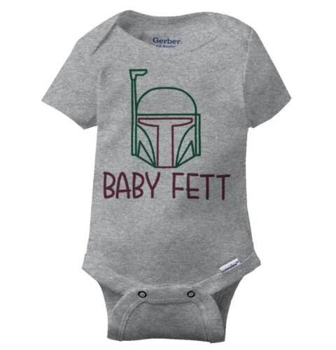 Baby Fett Cool Gift Cute Edgy Sarcastic Star Wars Hunter Gym