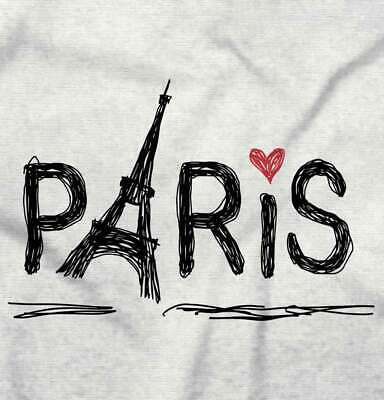 Paris Eiffel Tower French France Romantic Graphic Gift Girls T Shirt - Tower Girls