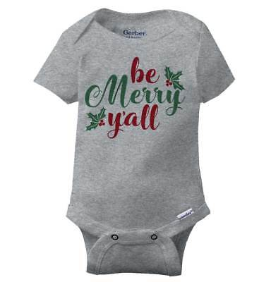 Santa Claus Onesie (Be Merry Yall Christmas Gerber Onesie | Xmas Santa Claus Joy Magic Baby)