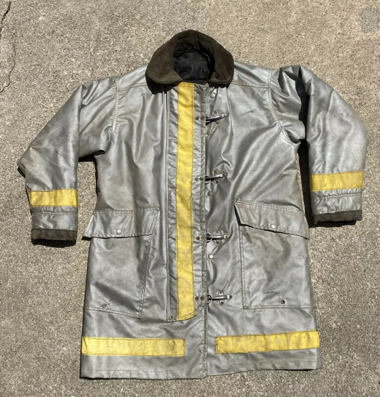 Vintage Morning Pride Firefighter Bunker Gear Turn Out Sz 42 With Liner