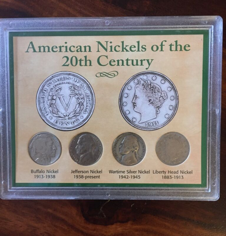 American Nickels of the 20th Century Coin Set Buffalo Jefferson Wartime Liberty