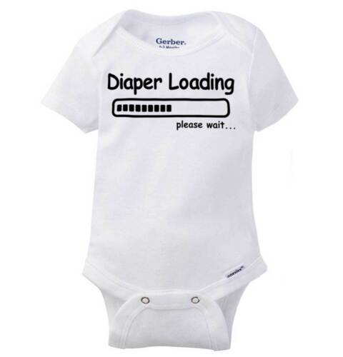 Diaper Loading Funny Shirt Cute Baby Clothes Cool Gift Poop