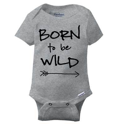 Born To Be Wild Classic Rock Gerber Onesie | Music Band Rock n Roll Baby Romper Rock Roll Baby Onesies