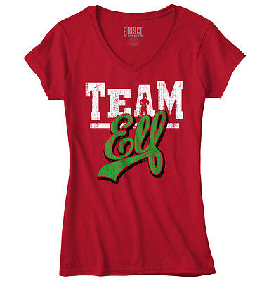 Ugly Christmas Shirt Ideas (Team Elf Ugly Christmas Sweater Funny T Shirts Gift Ideas Junior V-Neck)