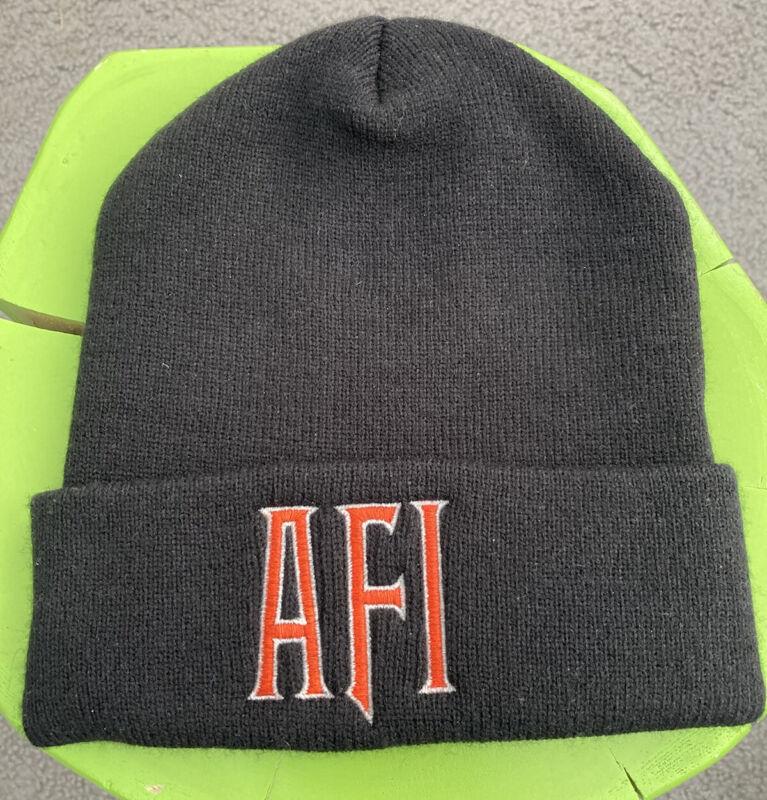 AFI Vintage Knit Hat Flip Beanie Tour Punk Rock Merch A Fire Inside Blaqk Audio