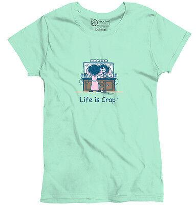 Life is Crap Bad Hair Day Funny Shirt Sarcastic Gift Idea Womens Tee T Shirts Bad Day Womens T-shirt