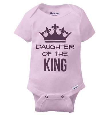 Daughter of King Princess Shirt for Women   Funny Baby Gift Gerber Onesies