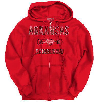 Arkansas State Pride T Shirt State Flag USA Razorback Gift Zipper Hoodie Arkansas Ar State Flag