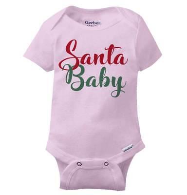 Santa Claus Onesie (Santa Claus Baby Funny Shirt Cool Gift Cute Christmas Present Gerber)