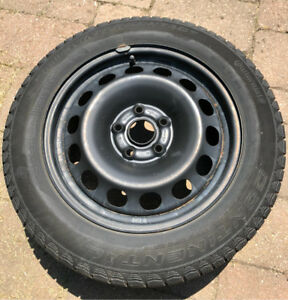 Continental ExtremeWinterContact tires with steel wheels