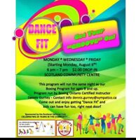 Dance for fit classes (zumba)