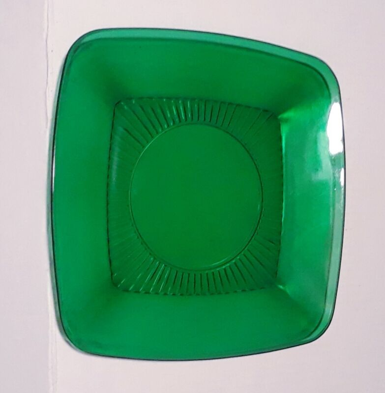 Anchor Hocking Charm Forest Green Dinner Plate Plates 9.25 Inch Fire King