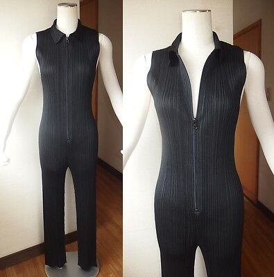 RARE ISSEY MIYAKE PLEATS PLEASE SEXY JUMPSUIT ROMPER PLAYSUIT ZIP-UP ONE PIECE 4
