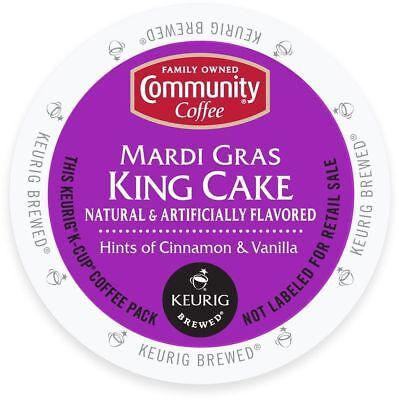 Mardi Gras Cups (Community Coffee Mardi Gras King Cake Coffee 18 to 144 Keurig K cups Pick Size)