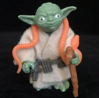 Vintage Star Wars Yoda Figure Orange Snake Minty Looks Card Fresh Complete Toy