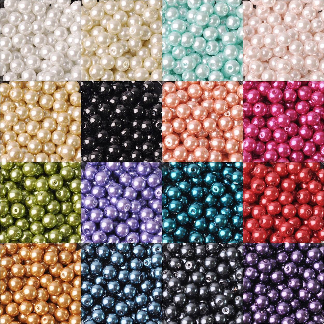 round czech glass pearl loose beads