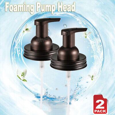 """2X Foaming Soap Hand Dispenser Pump Lids Holder Replacement Mason Jar Bronze"""""""