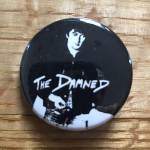 THE DAMNED Button 2 Pin Badge PUNK ROCK HORROR ROCK GOTH BADGES PINS - $7.58