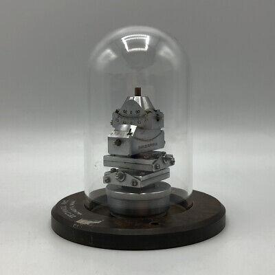 Charles Supper Goniometer Head Technol Inc Wood Base Glass Globe