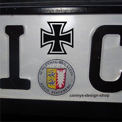 2x Iron Cross Eiserne Kreuz Aufkleber Sticker S004 - 2er Set 3,5cm schwarz mt  - 24s Set