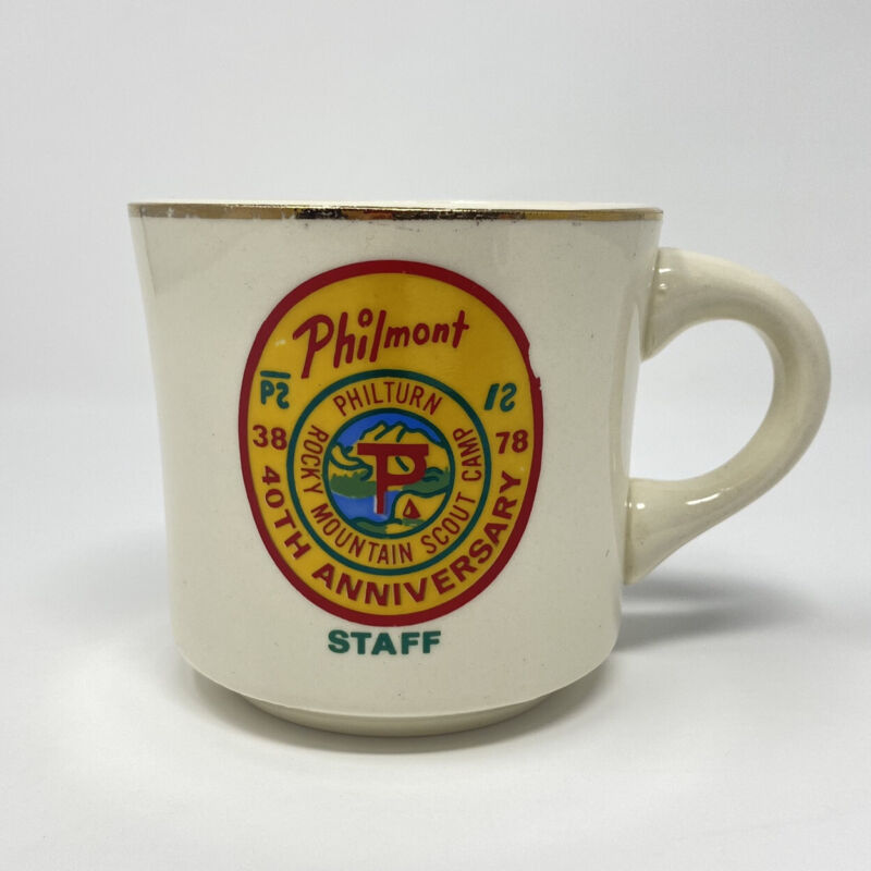 Vintage Philmont Training Center Boy Scouts of America Coffee Mug Cup Staff