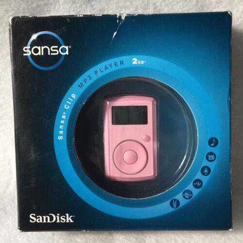 PINK SanDisk Sansa Clip 2 GB FM Digital Media MP3 Player SDMX11R-002GP-A70W NEW