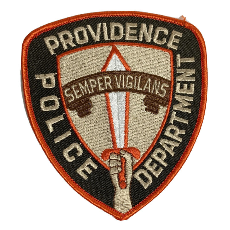PROVIDENCE PD POLICE PATCH RI TIP OF SPEAR SWORD OFFICER RHODE ISLAND