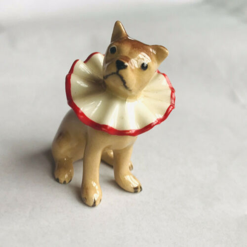 VTG MINIATURE DOG RUFFLED COLLAR CIRCUS BOXER ...