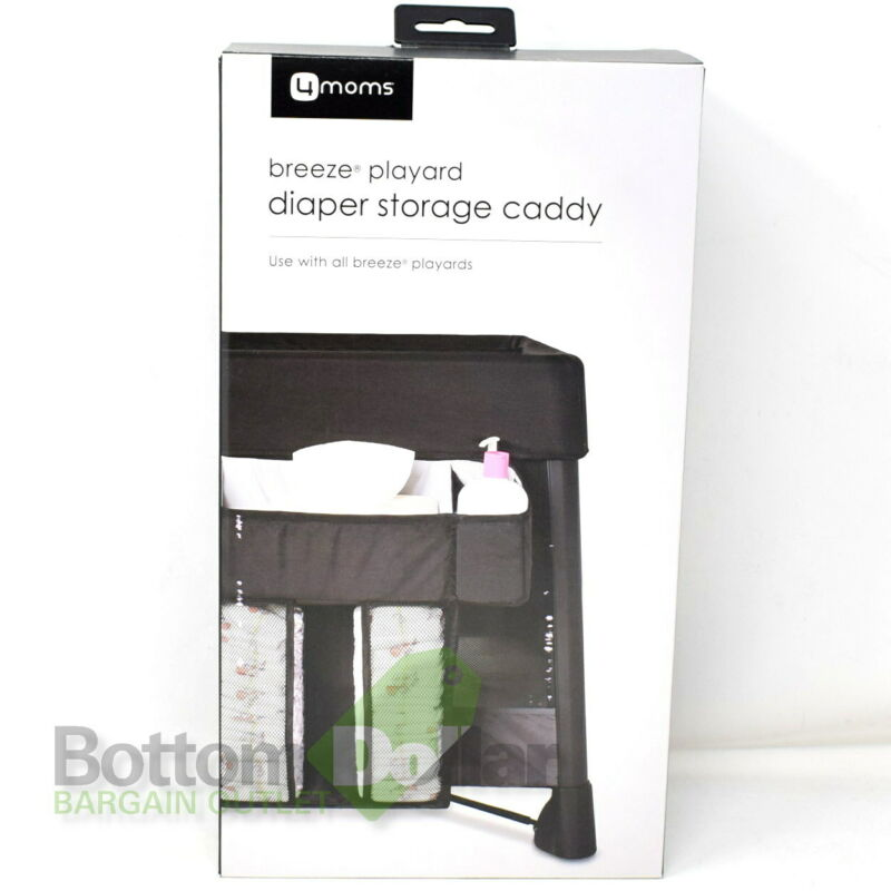 4moms 2000746 Breeze Playard Convenient Diaper & Wipes Storage Caddy Black