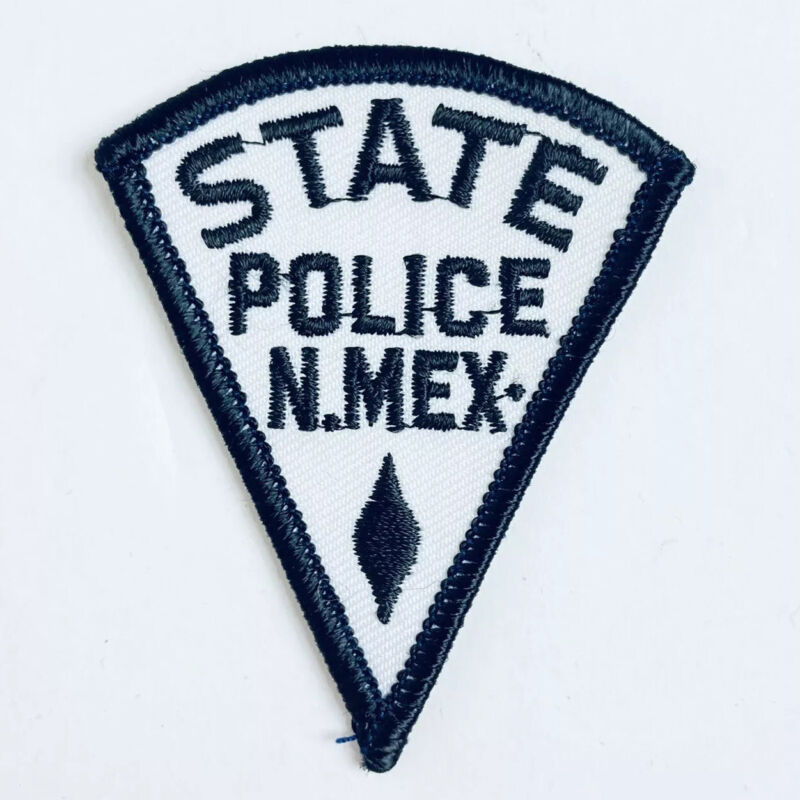 MINI STATE POLICE PATCH NEW MEXICO BLACK AND WHITE TRIANGLE SSI